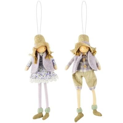 Hanger meisje & jongen 'Paysanne', stof