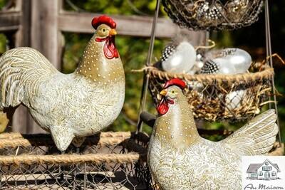 Set 2 kippen naturel
