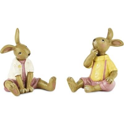 Koppeltje konijntjes zittend