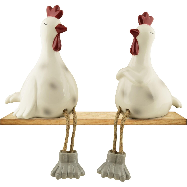 Set kippetjes zittend met hangbeentjes