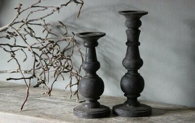Houten Kandelaar ''Vintage Grey'' maat S