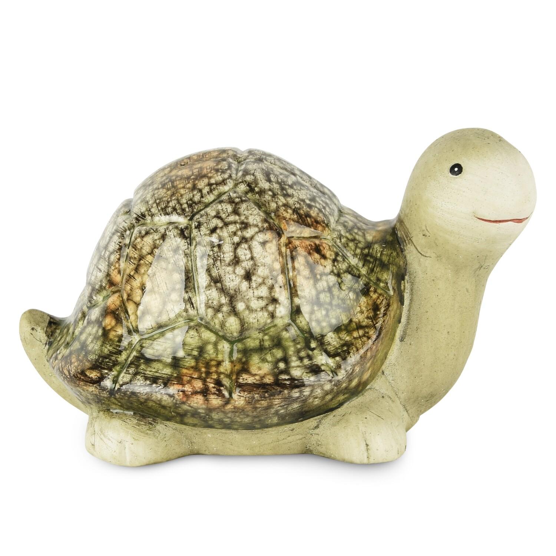 Schildpad groen marbre groot