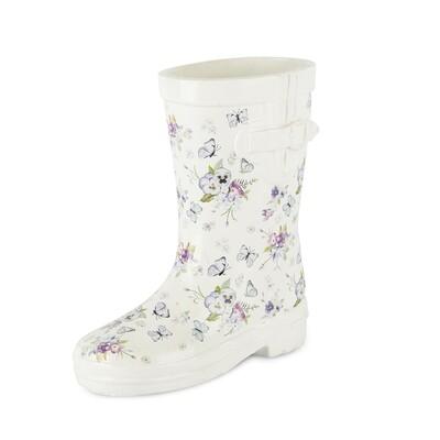 Laars wit met bloemen klein
