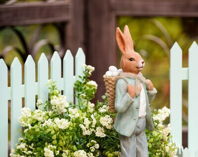 Bunny vintage met rugmand