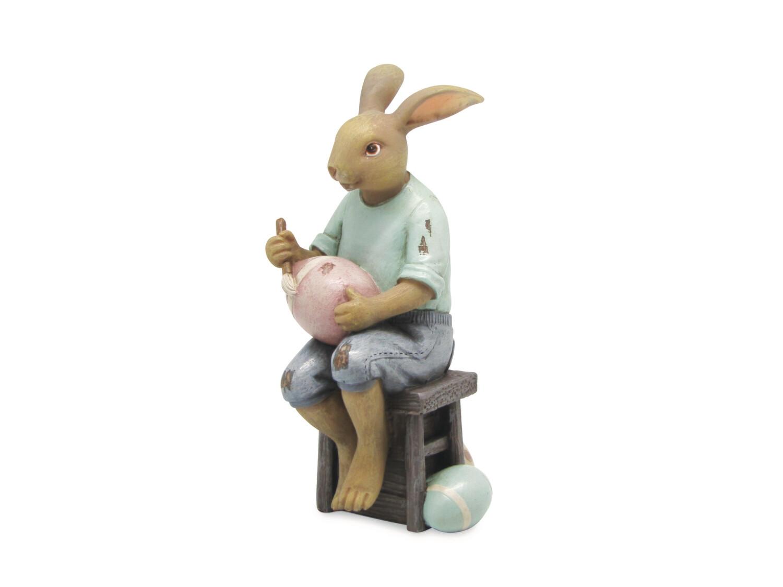 Bunnyschilder op stoel old blue