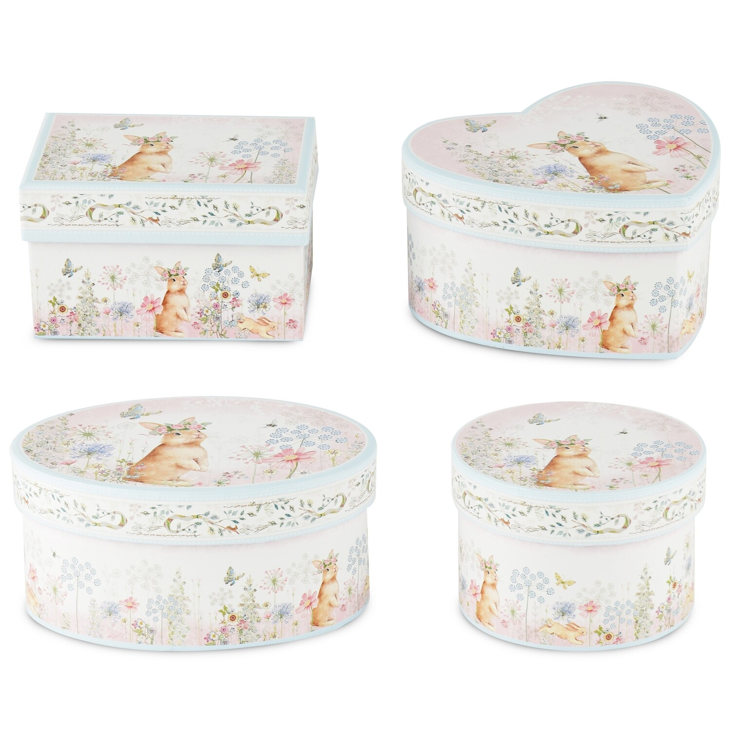 Set 4 dozen 'Romantic Bunny'