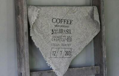 Doek shabby Koffie 45 x 45 cm
