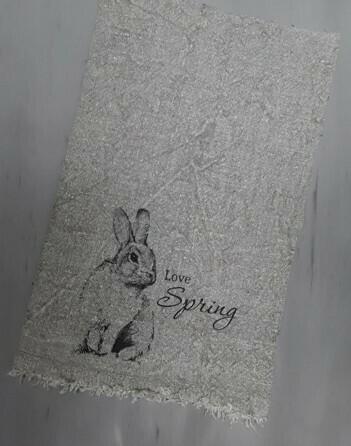 Doek shabby Love Spring 30 x 45 cm