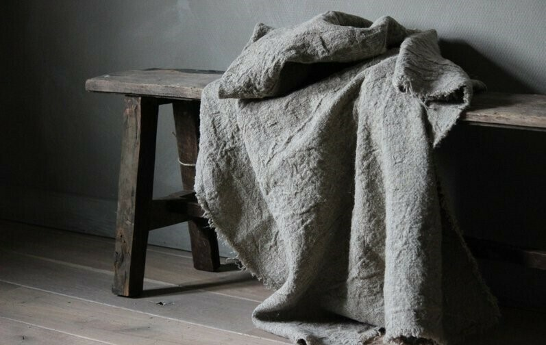 Shabby Linnen Plaid 100 x 98 cm