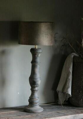 Tafellamp inclusief velvet kap