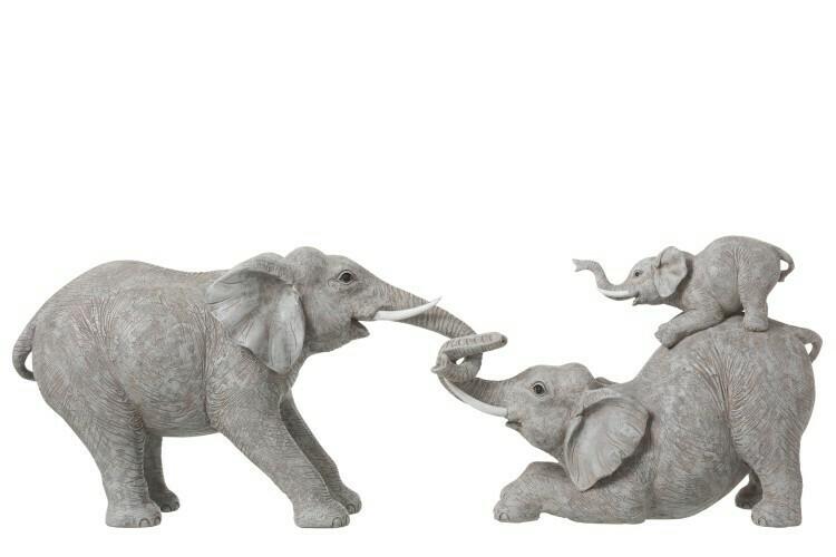 Olifanten trekkend met kind
