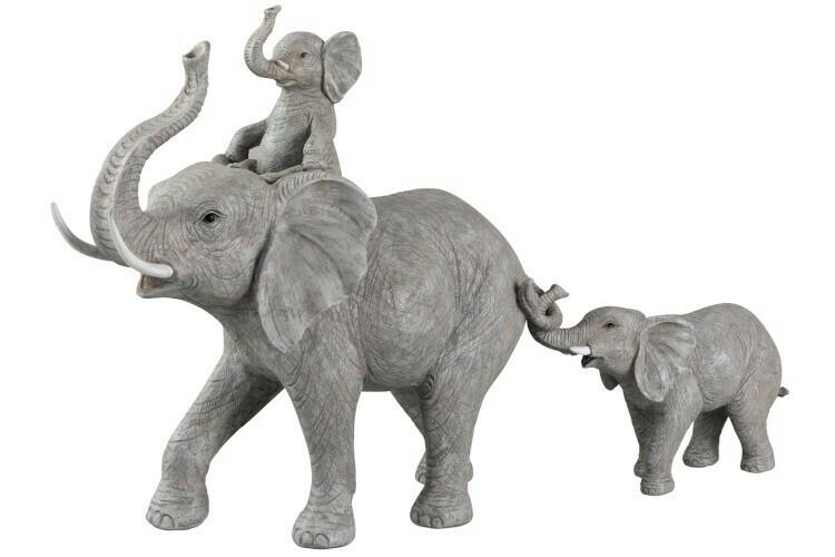 Olifant staand met kind op rug