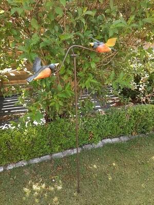 Tuinsteker windspel vogels