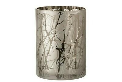 Windlicht Takken Glas Grijs