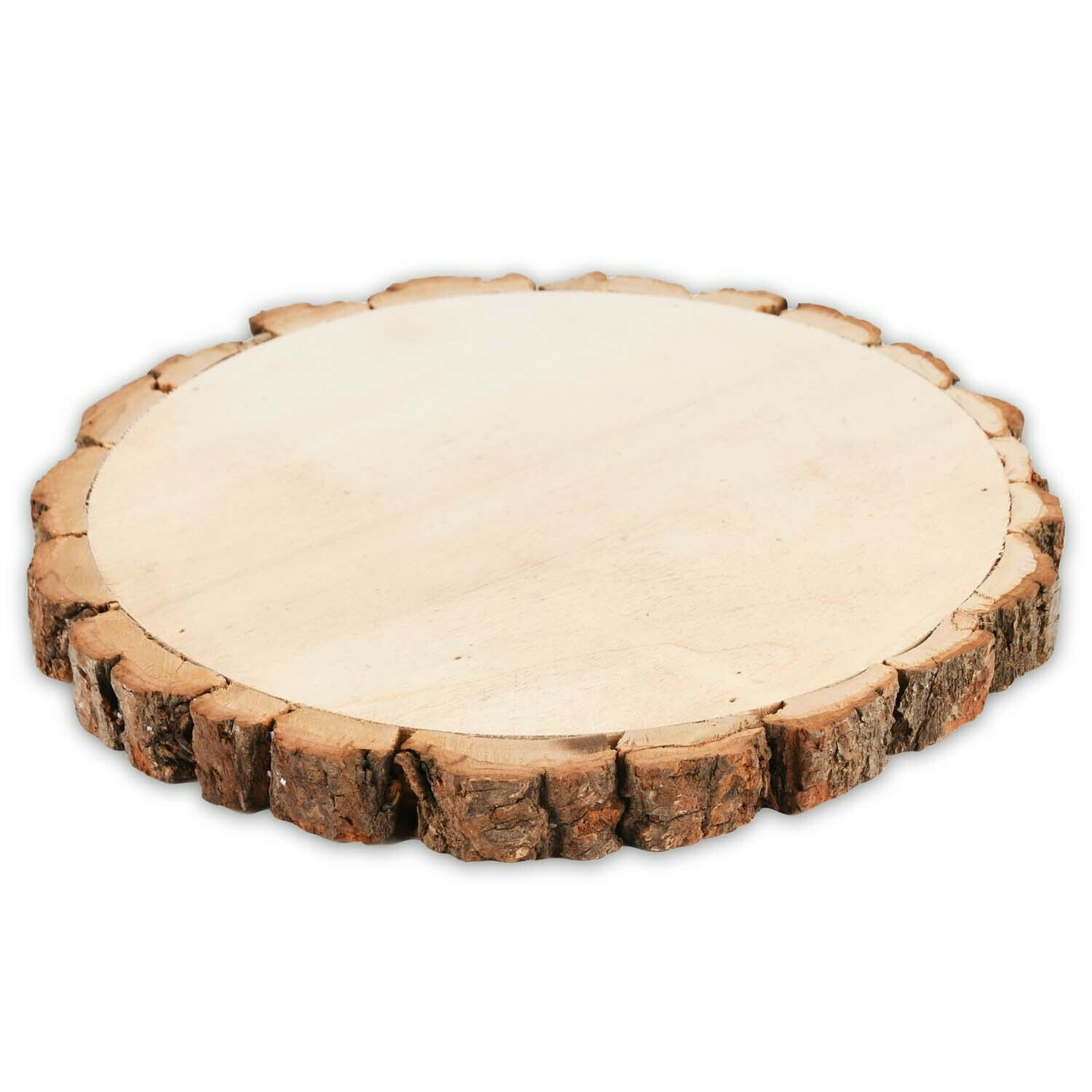Deco plank rond hout groot