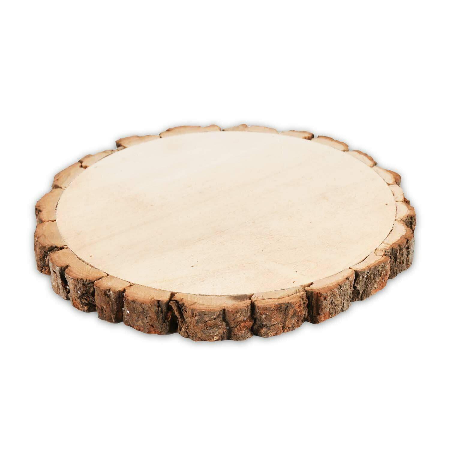 Deco plank rond hout klein