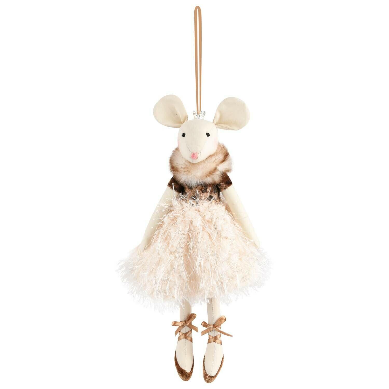 Muis hanger beige met kroontje