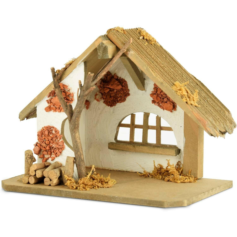 Kerststal hout naturel