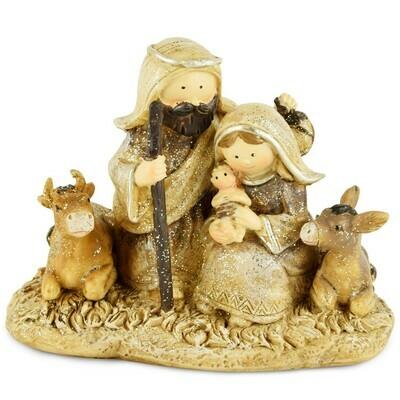 Ensemble kerststalfiguren met dieren