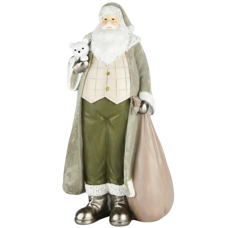 Santa munt met beertje velvet