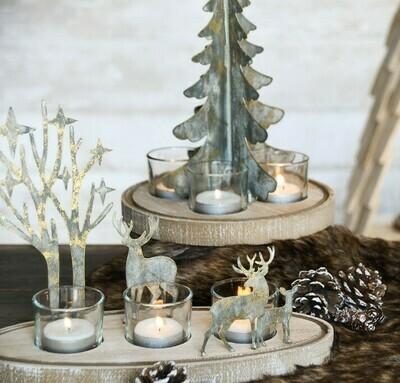 Tafelstuk met rendieren 3 theelichten