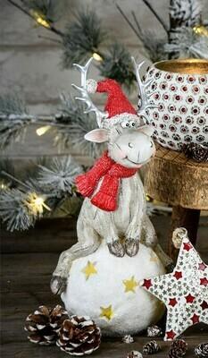 Rendier zittend op sneeuwbal LED