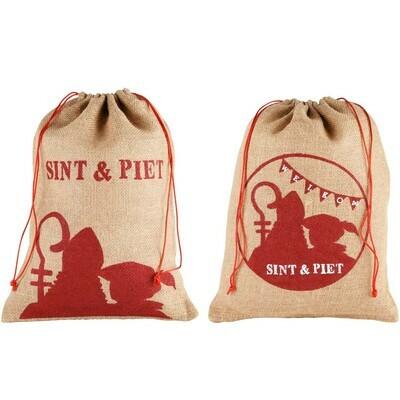 Set 2 jutezakjes Sint & Piet