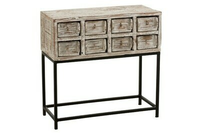 Console 8lades Gerecycleerd Hout White Wash