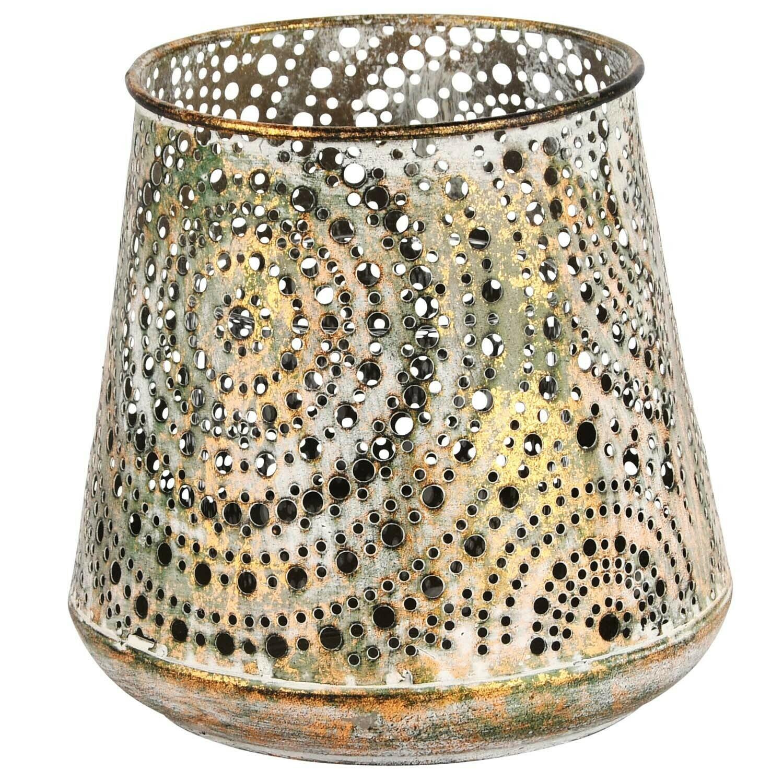 Theelicht metaal 'Brass Antique' groot