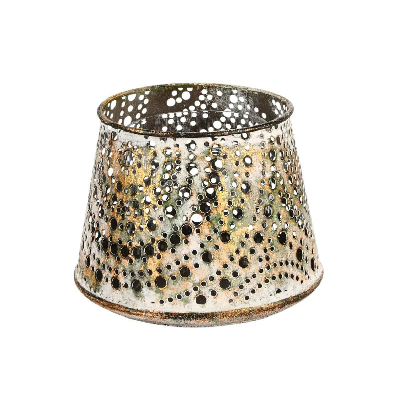 Theelicht metaal 'Brass Antique' klein