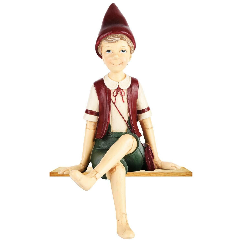 Pinokkio zittend