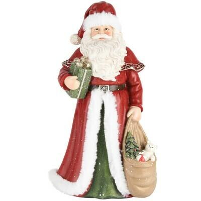 Santa met zak rood/groen