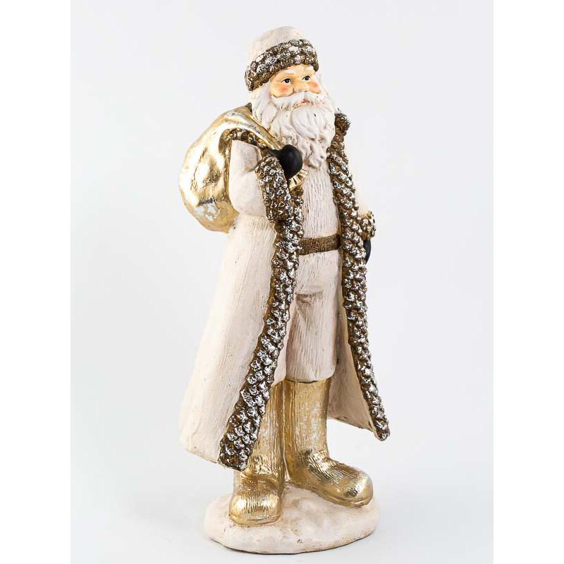 Santa staand crème/goud