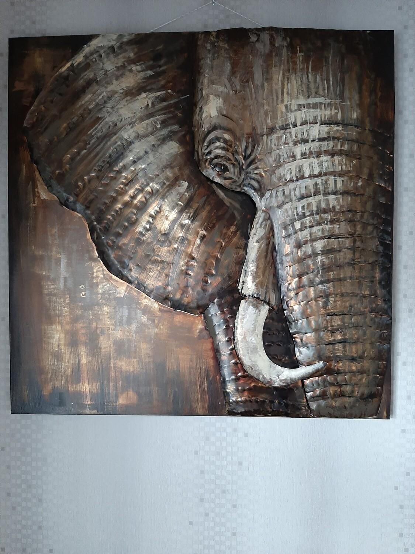 Schilderij Olifant 3D