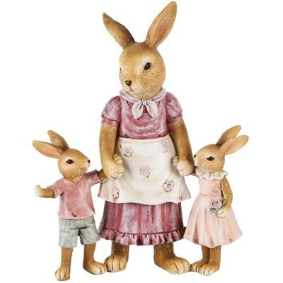 Bunny moeder met kinderen