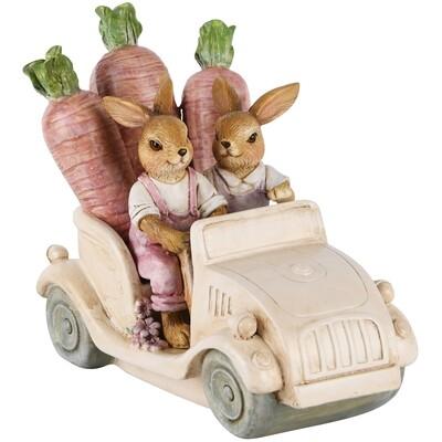 Bunny koppel in auto