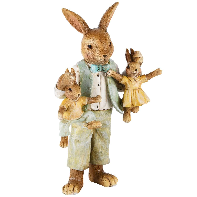 Bunny vader met kinderen