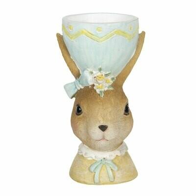 Eierdopje/theelicht konijn meisje