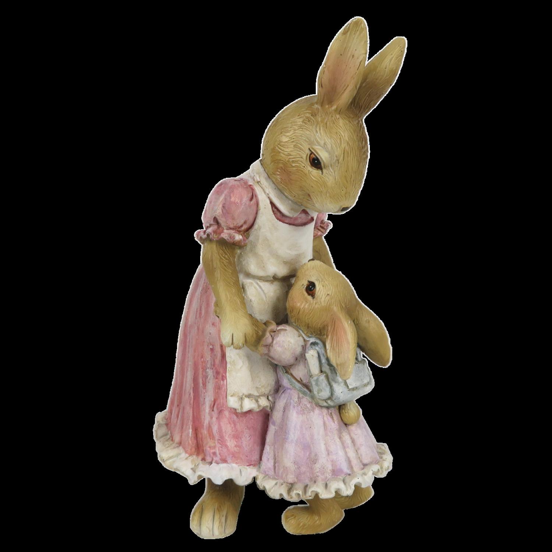 Moeder konijn met kindje