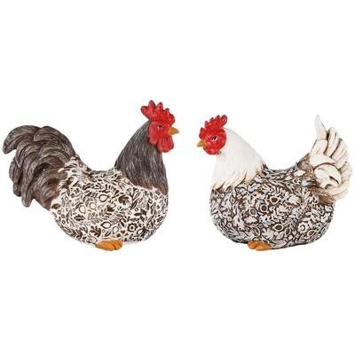 Set 2 zittende kippen