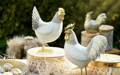 Set kip & haan wit/goud
