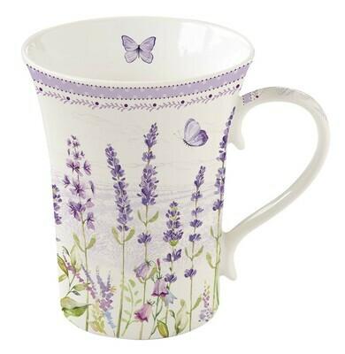 Mok porselein in giftbox 'Lavender Field'