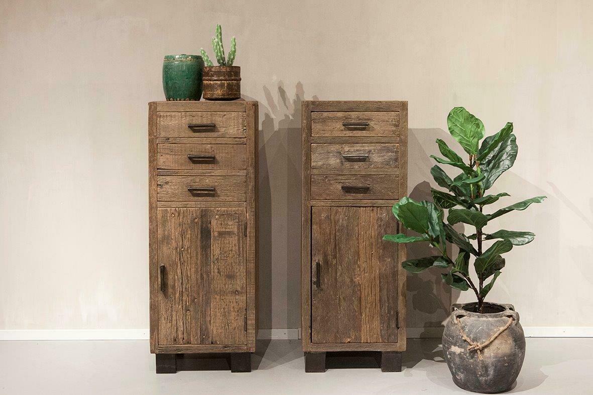 Robuuste oud houten ladenkast | Urban Collection