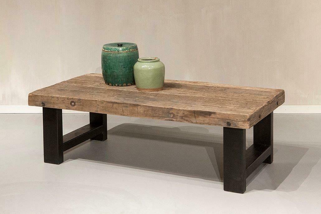 Robuuste oud houten salontafel 120 cm | Urban Collection