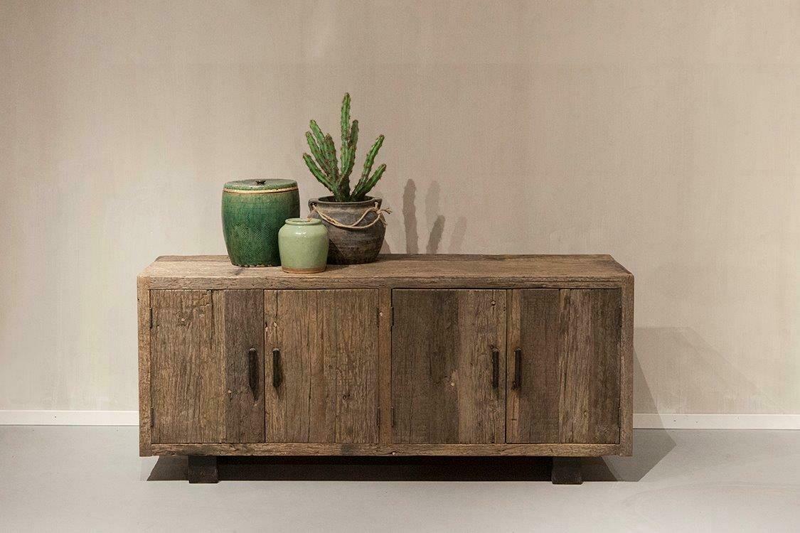 Robuust houten tv-dressoir 160 cm | Urban Collection