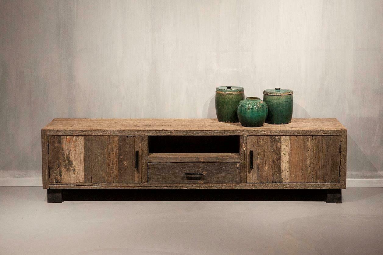 Robuust houten tv-meubel   200 cm   Urban Collection