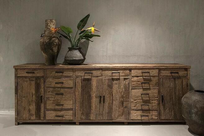 XXL grof houten dressoir   Brussel
