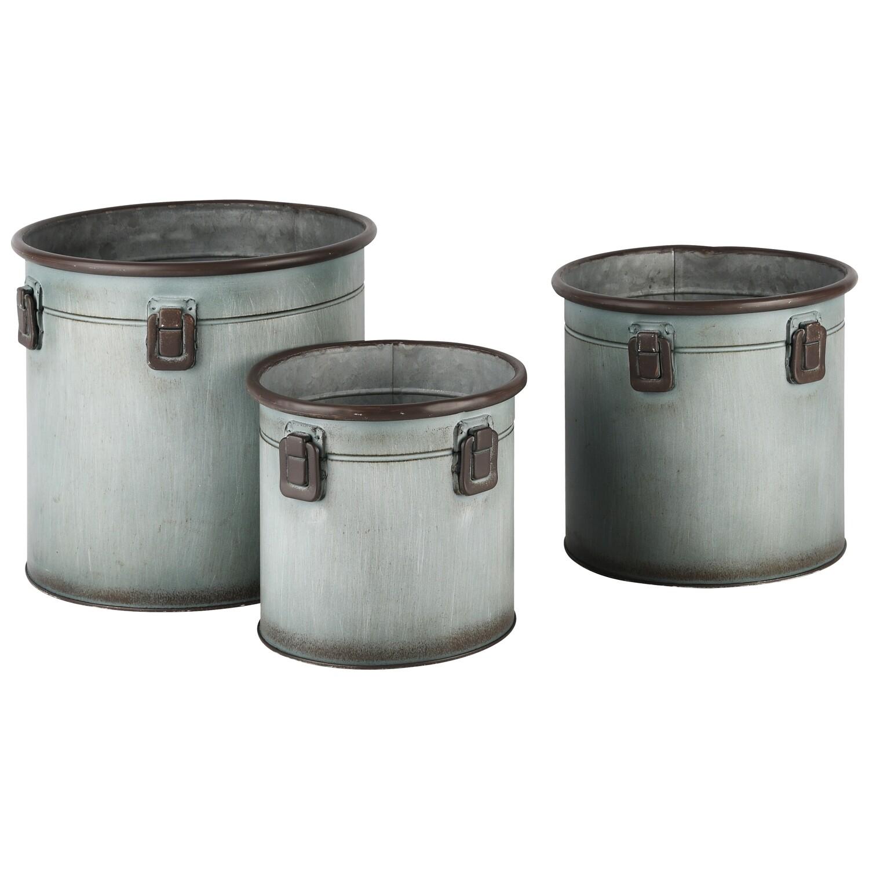 Set 3 plantenbakken metaal