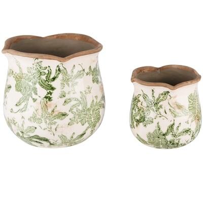 Set 2 cachepots 'Botanica'