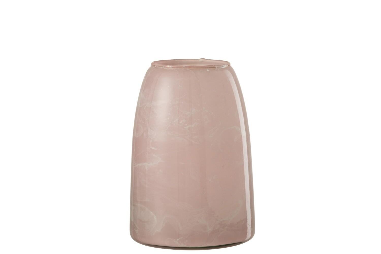 Theelichthouder Rosa Glas Roze Large